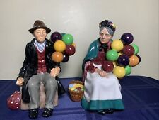 Royal Doulton Figurines Balloon Sellers Man And Woman Hn1954 And Hn1315