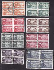 4er Blocks Flugpostmarken Jugoslawien gestempelt  85