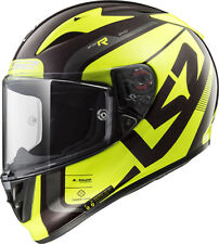 Ls2 Casque Moto integral Ff323 Arrow C Carbon Sting Wineberry Jaune XL