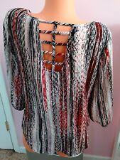 Heart Soul Womens Pullover 3/4 Sleeve Shirt - womens M/M -