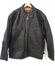 Giubbino Pelle mod. Avirex aviazion top gun vintage 80' jacket leather aviator