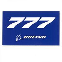Boeing 777 blue Aufkleber Boeing Sticker original Boeing Merchandise NEU 10x5,5