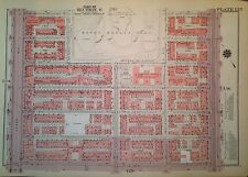 1955 SPANISH HARLEM 116TH-122ND STREET MANHATTAN NY G.W. BROMLEY ATLAS MAP 12X17