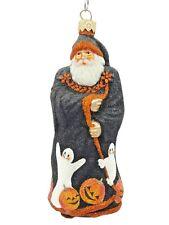 Patricia Breen Redoute Santa Halloween Ghosts Pumpkins Glitter Holiday Ornament