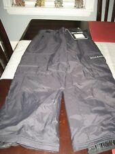 BOYS/GIRLS YOUTH BILLABONG SKI SNOW FROST PANTS SIZE 8 BLACK  NWT