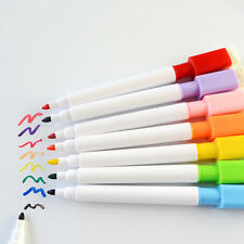 Set Of 8 Colors Magnet Pens Magnetic Dry Wipe White Board Markers Built In Erase