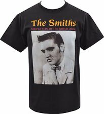 MENS BLACK T-SHIRT THE SMITHS SHOPLIFTERS ELVIS PRESLEY BRITISH MORRISSEY S-5XL