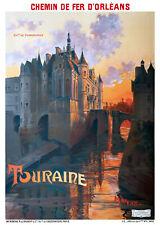 Affiche chemin de fer Orléans - Touraine Château de Chenonceaux