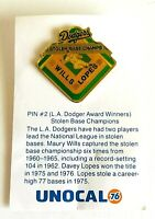 Pin #2 L.A.Dodger Award Winner Stolen Base Champions Wills Lopez Unocal 76