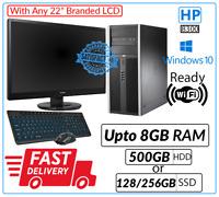 "Computer Set HP 8300 Tower Intel Core i5 3rd Generation WiFi 22"" LCD DVD Win 10"