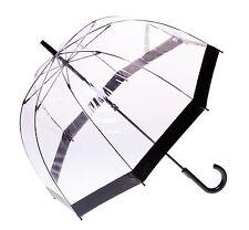 Clifton Clear Dome PVC Birdcage Black Border Umbrella