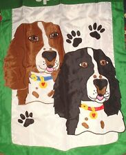 "New listing English Springer Spaniel Applique Dog Flag 48"" x 30"" Home Garden Decor/New"