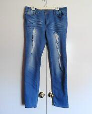 BF Premium Light Blue Ripped Distressed Stretch Women's Jeans 17 (34W X 33L)