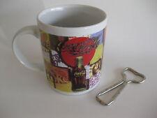 Coca-Cola Coffee Mug And Bottle Opener ( Lot of 2 )
