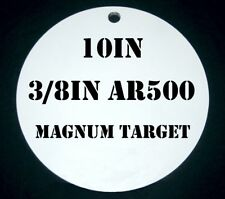 10in. Dia. 3/8 in. AR500 Metal Gong Steel Target for Pistol & Rifle Shooting
