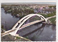 CPSM 27430 SAINT PIERRE du VAUVRAY Le pont sur la Seine vue aerienne Edt LAPIE