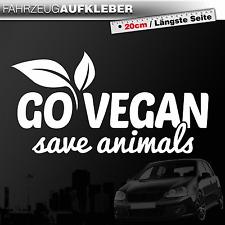 Go Vegan - Save Animals | Veganer | Veganismus | Weiß | PKW Auto Aufkleber