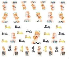Nail Art Decals Transfers Stickers Barbie (A-519)