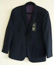 Men's Next Navy Blue Darwin Suit Jacket Wool Blend Size 40S