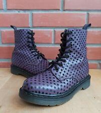 Dr Martens 1460 Pascal Women 5 US 3 UK Polka Dot Flock Purple Ankle Boots 8 eye