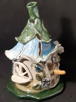 Blue Sky Clayworks Ceramic Birdhouse Tealight Candle Holder Heather Goldminc