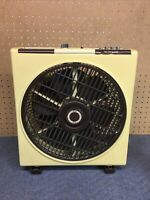 Sunbeam oscillating fan 2904 the circulator Rotating Louver Tested Works Vintage