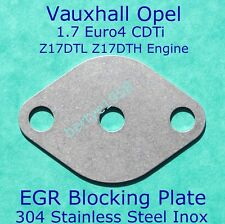 EGR restrictor plate Vauxhall Opel 1.7 CDTi Z17DTL / DTH Astra Corsa Combo Euro4