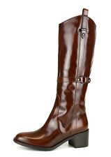 Aquatalia By Marvin K. Pull On Patent Leather Boots Brown Women Sz 6 5175 *