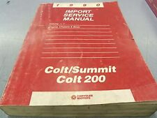 Chrysler 1990 Import Service Manual Vol 1 Engine Chassis Body Colt 200 Summit