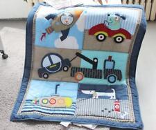 Baby Crib Bedding Sets Boy Cot Nursery Quilt Bumper Skirt Sheet Cartoon Animal