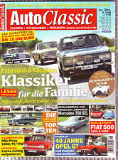 Auto Classic 6/08 Mercedes 350 SEL W116/NSU TT/TTS/Fiat 500/Nuova 500/Veritas