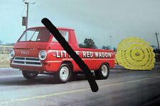 """Little Red Wagon"" Jay Howell Mid 60s Dodge Pick Up ""Wheelstander"" PHOTO! #(1)"