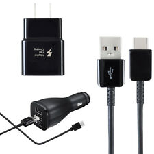 For Samsung Galaxy S9 S9 + Note 8 Type-C Cable Fast Charging Car + Wall Charger