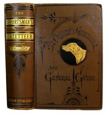 1879 Hunting Game Fly Fishing Shooting Antique Sports Guide Camps Lodges Maps