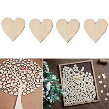 50 Stueck 40mm Holz herzen Verzierungen fuer DIY.Dekor Crafts