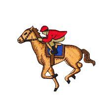 ID 1332 Horse Racing Jockey Patch Equestrian Rider Hobby Craft Iron-On Applique