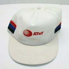 VTG Red White & Blue AT&T Snapback Hat Used No Foam
