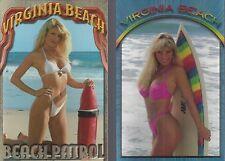 HUGE LOT OF 10 SEXY GIRLS IN BIKINIS *VIRGINIA BEACH VA NEW *POST CARDS *SURFERS