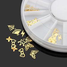 3D Gold Metal DIY Nail Art Decoration Sticker Wheel