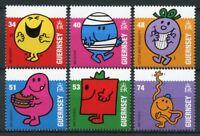 Guernsey 2008 MNH Mr Men Little Miss Mr Bump 6v Set Children's Books Stamps