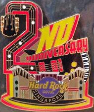 "Hard Rock Hotel SINGAPORE 2012 2nd Anniversary PIN ""2"" Guitar HRH Facade #69836"