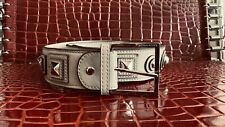 Karen Millen Cream Leather Belt Size 2 Medium