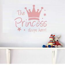 Children's Room Decor Wall Sticker Princess's Sleep Here Lettering Home Decal