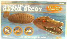 Gator Decoy 3 Pc. Led Eyes Light Up Floating Predator Decoy Decor Pool Pond Yard