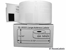 1 Roll of 260 Large Address Labels in Mini-Cartons for DYMO® LabelWriter® 30321