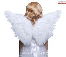 Childrens White Butterfly Style Feather Angel Wings Fairy Costume Props