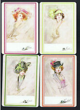 Playing Swap Cards 4 WIDE LADIES OF THE U.K. NMD  BY ENGLISH  ARTIST W141