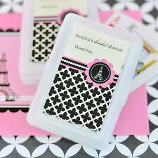 100 Sets Parisian Paris Personalized Playing Cards Bridal Wedding Shower Favors