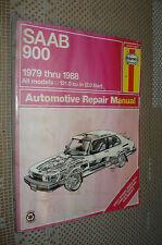 1979-1988 SAAB 900 SERVICE MANUAL SHOP BOOK HAYNES REPAIR 87 86 85 84 83 82 81