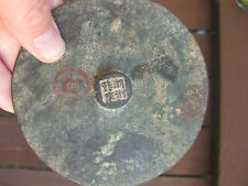Genuine Chinese bronze mirror, 4 characters on the knob, 106mm, Yuan dynasty?